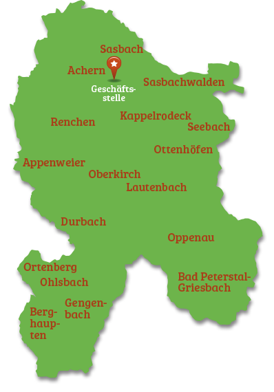 ortenaukreis karte LEADER Region Ortenau: Regionalentwicklung Ortenau   Leader Region